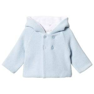 Image of Dr Kid Blue Hooded Cardigan 6 months