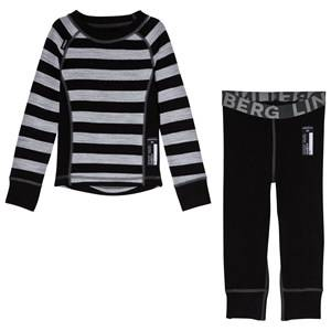 Lindberg Black Stripe Merino Set 80 cm (1 Year)