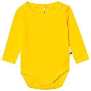 A Happy Brand Long Sleeve Baby Body Yellow 62/68 cm
