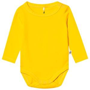 A Happy Brand Long Sleeve Baby Body Yellow 74/80 cm