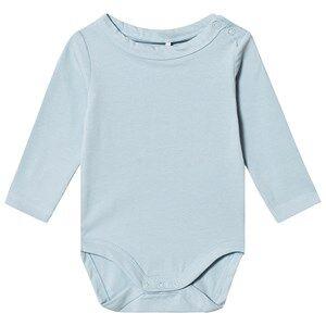 A Happy Brand Long Sleeve Baby Body Blue 50/56 cm