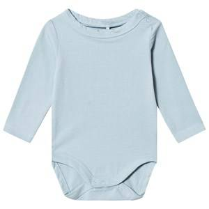 A Happy Brand Long Sleeve Baby Body Blue 50/56 cm