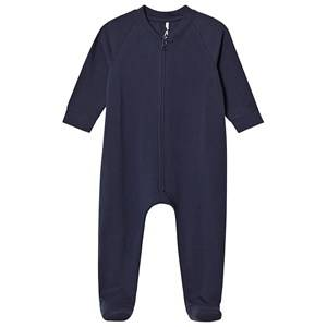 A Happy Brand Footed Baby Body Navy 62/68 cm