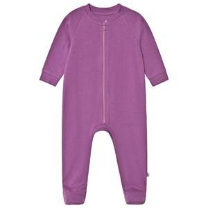 A Happy Brand Footed Baby Body Purple 62/68 cm
