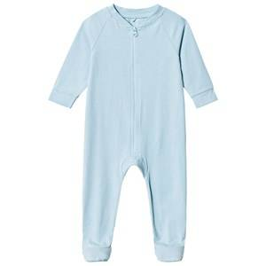 A Happy Brand Footed Baby Body Blue 62/68 cm