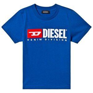 Image of Diesel Blue Diesel Denim Applique Tee 10 years