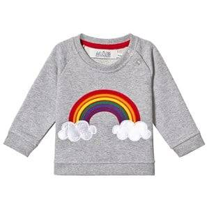 Image of Anve For The Minors Grey Rainbow Baby Sweatshirt 4-6 Months