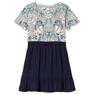 Image of GAP Navy Uniform Floral Dress XS (4-5 Years)