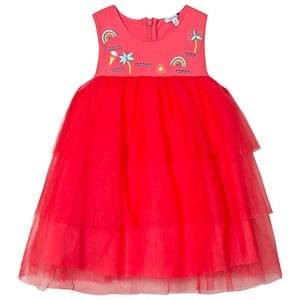Image of Absorba Pink Tulle Embroidered Dress 6 months