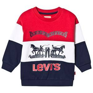 Levis Kids Branded Oversized Sweater Navy/Red/White 16 years