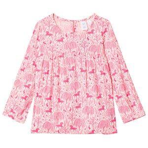 GAP Pink Unicorn Print Pleated Blouse L (10-11 Years)