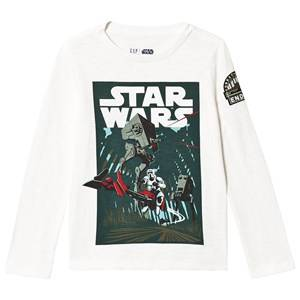 GAP New Off White Star Wars Long Sleeve Tee XS (4-5 Years)