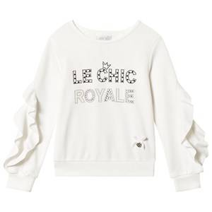 Le Chic Cream Frill Sleeve Sweater 104 (3-4 years)