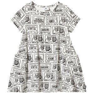 Image of Hootkid Cassette Print Tee Swing Dress 2 years