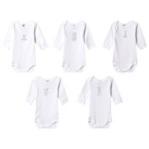 Petit Bateau 5-Pack Baby Bodies White 24 Months