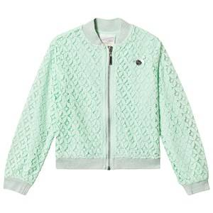 Le Chic Mint Lace Bomber Jacket 104 (3-4 years)