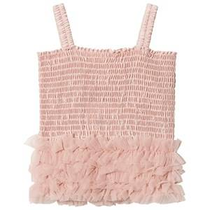 DOLLY by Le Petit Tom Frilly Top Ballet Pink Small (3-6 Years)