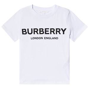 Burberry White Robbie Branded Tee 4 years
