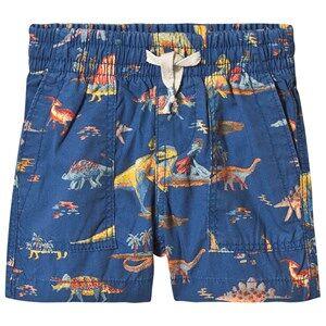 GAP Print Pull-On Shorts Baltic Blue 18-24 Months