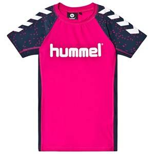 Image of Hummel Oyster Swim Tee in Magenta 116 cm (5-6 Years)