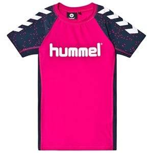 Image of Hummel Oyster Swim Tee in Magenta 104 cm (3-4 Years)