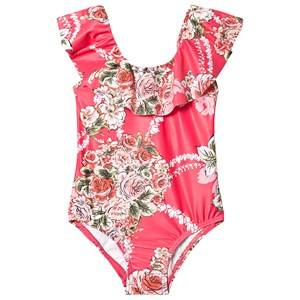 Seafolly Little Village Ruffle Swimsuit Pink 3 years