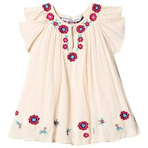 Image of Kiss How To Kiss A Frog Forma Embroidered Dress Off White 12 Years