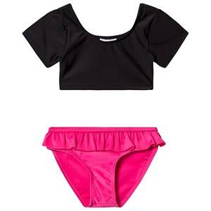 The BRAND Sleeve Bikini Black/Pink 116/122 cm
