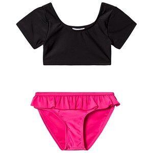 The BRAND Sleeve Bikini Black/Pink 140/146 cm
