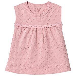 Fixoni Pointelle Dress Zephyr Pink 80 cm (9-12 Months)