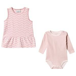 Image of Fixoni Dress and Baby Body Set Zephyr Pink 56 cm (1-2 Months)