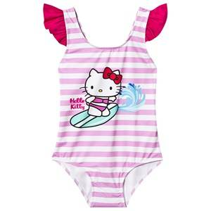 MC2 Saint Barth Surfing Hello Kitty Swimsuit Pink and Whit 2 years