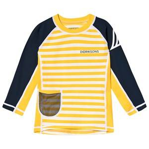 Didriksons Surf Kids Ls Uv Top 2 Yellow 80 cm (9-12 Months)
