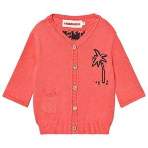 nadadelazos Cardigan Lets Go To The Beach in Tan Red 4 Years