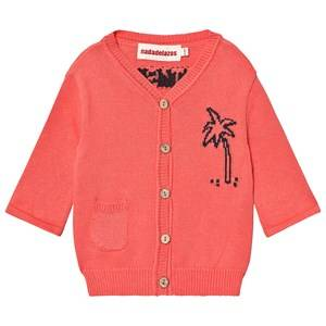 nadadelazos Cardigan Lets Go To The Beach in Tan Red 18 Months