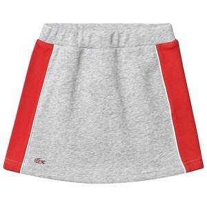Lacoste Grey Jersey Skirt with Red Side Panelling 8 years