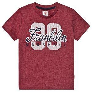 Marshall Franklin & Marshall Dark Red Marl Branded Tee 12-13 years