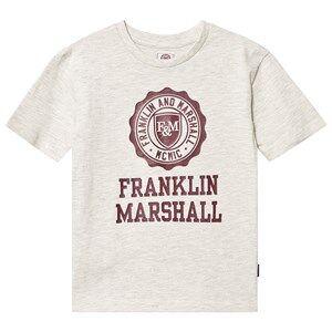 Marshall Franklin & Marshall Oatmeal Marl Logo Tee 8-9 years