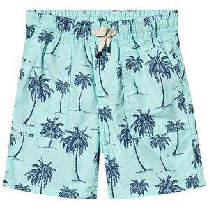 GAP Palm Pull-On Shorts Bleached Aqua 18-24 Months