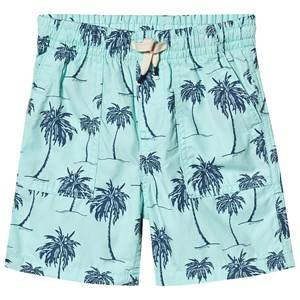 GAP Palm Pull-On Shorts Bleached Aqua 4 Years