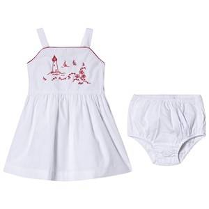 Image of Ralph Lauren Costal Embroidered Dress White 12 months