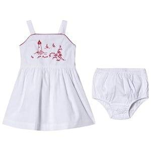 Image of Ralph Lauren Costal Embroidered Dress White 9 months