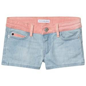 Image of Calvin Klein Jeans Contrast Western Shorts Blue and Pink 14 years