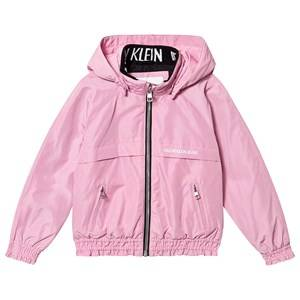 Image of Calvin Klein Jeans Pink Padded Light Hooded Jacket 8 years