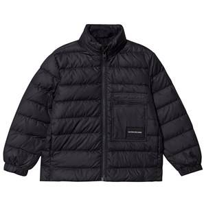 Image of Calvin Klein Jeans Recycled Light Down Bomber Puffer Jacket Black 8 years