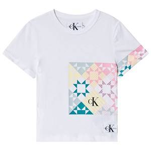 Image of Calvin Klein Jeans Patchwork Tee Bright White 12 years