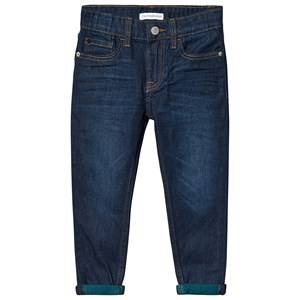 Image of Calvin Klein Jeans Taper Jeans Vine Blue 14 years