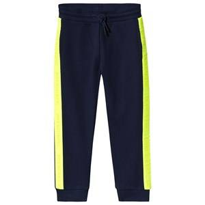 Image of Calvin Klein Jeans Logo Tape Sweatpants Navy 6 years