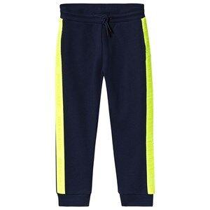 Image of Calvin Klein Jeans Logo Tape Sweatpants Navy 14 years