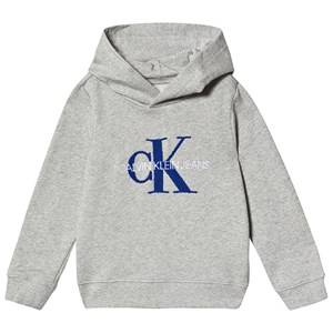Image of Calvin Klein Jeans Logo Hoodie Grey 4 years